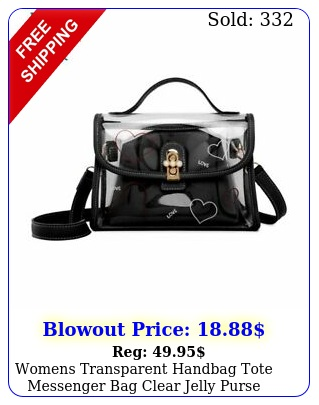 womens transparent handbag tote messenger bag clear jelly purse crossbody ba