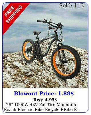 w v fat tire mountain beach electric bike bicycle ebike ebike lc