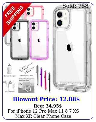 iphone pro max  xs max xr clear phone case shockproof bumper cover