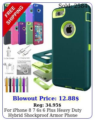 iphone  s plus heavy duty hybrid shockproof armor phone case cove