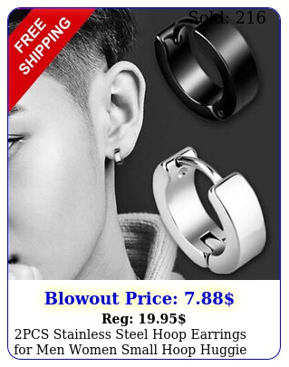 pcs stainless steel hoop earrings men women small hoop huggie ear piercing