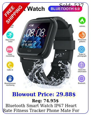 bluetooth smart watch ip heart rate fitness tracker phone mate ios androi