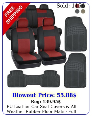 pu leather car seat covers all weather rubber floor mats full interior se
