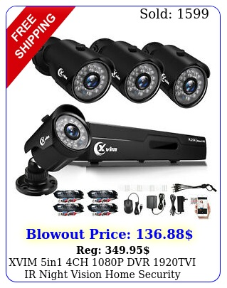 xvim in ch p dvr tvi ir night vision home security camera system u