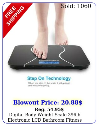 digital body weight scale lb electronic lcd bathroom fitness tempered glas