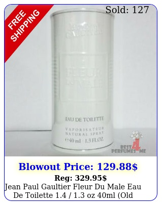 jean paul gaultier fleur du male eau de toilette  oz ml old formul