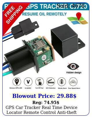gps car tracker real time device locator remote control antitheft hidden