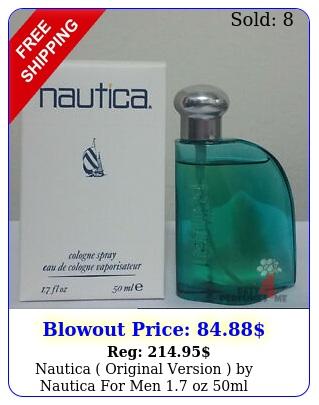 nautica original version by nautica men oz ml cologne spray rar