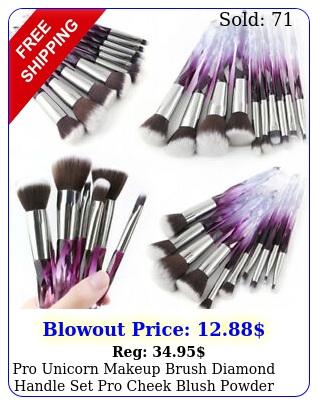 pro unicorn makeup brush diamond handle set pro cheek blush powder brush kit u