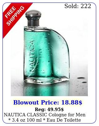 nautica classic cologne men  oz ml eau de toilette seale