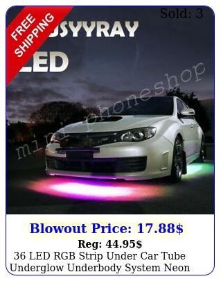 led rgb strip under car tube underglow underbody system neon lights kits us