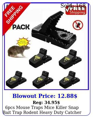 pcs mouse traps mice killer snap bait trap rodent heavy duty catcher reusabl