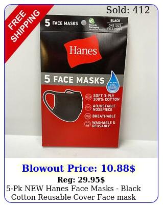 pk hanes face masks black cotton reusable cover face mask cloth facemas