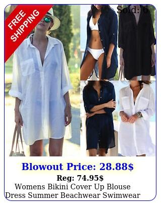 womens bikini cover up blouse dress summer beachwear swimwear bathing suit shir