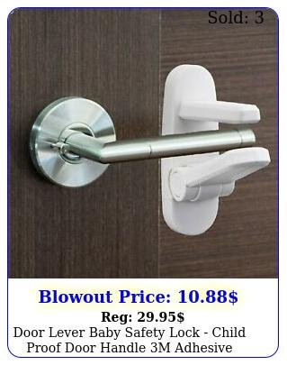 door lever baby safety lock  child proof door handle m adhesiv