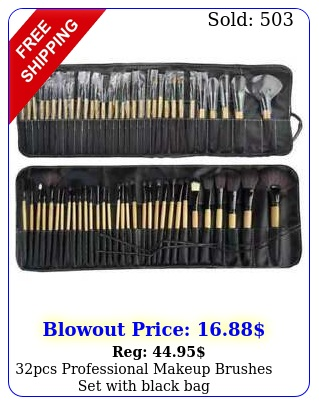 pcs professional makeup brushes set with black ba