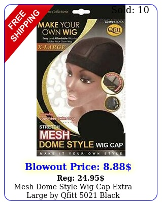 mesh dome style wig cap extra large by qfitt blac