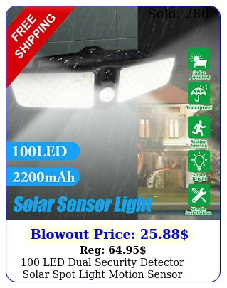 led dual security detector solar spot light motion sensor outdoor floodligh