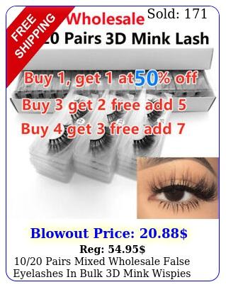 pairs mixed wholesale false eyelashes in bulk d mink wispies style