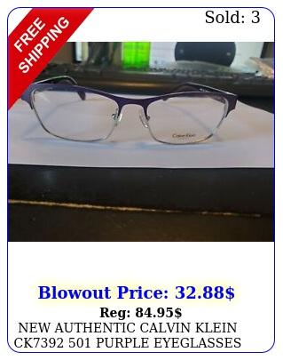 authentic calvin klein ck purple eyeglasses frame rx