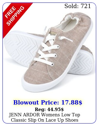 jenn ardor womens low top classic slip on lace up shoes comfort fashion sneaker