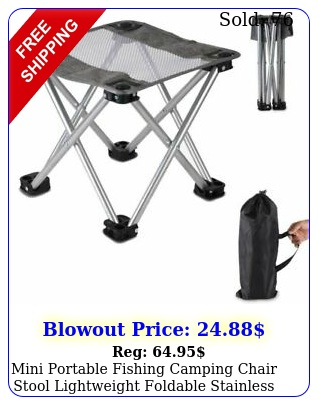 mini portable fishing camping chair stool lightweight foldable stainless stee