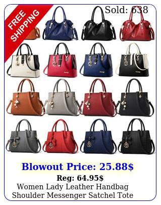 women lady leather handbag shoulder messenger satchel tote hobo crossbody ba