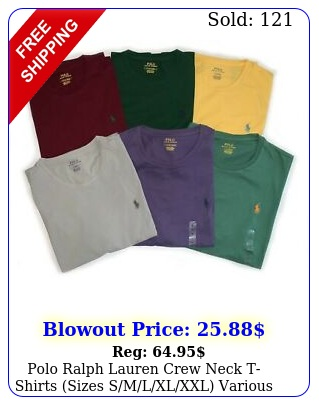 polo ralph lauren crew neck tshirts sizes smlxlxxl various color