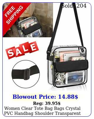 women clear tote bag bags crystal pvc handbag shoulder transparent beach fashio