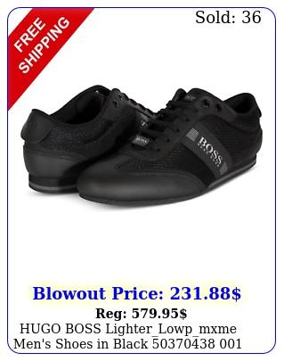 hugo boss lighterlowpmxme men's shoes in black