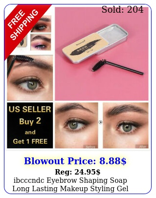 ibcccndc eyebrow shaping soap long lasting makeup styling gel wax with brus