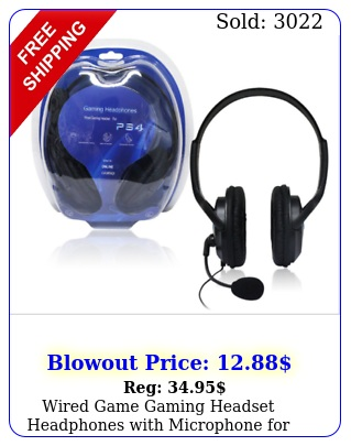 wired game gaming headset headphones with microphone ps pc lapto