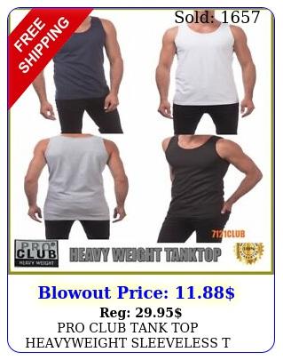 pro club tank top heavyweight sleeveless t shirts proclub men's muscle tee mx