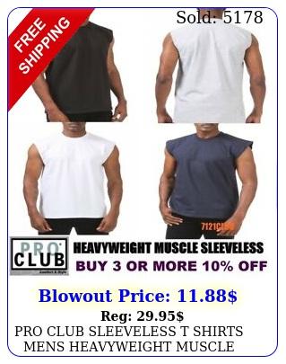 pro club sleeveless t shirts mens heavyweight muscle tank top big tall mx