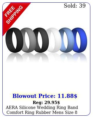 aera silicone wedding ring band comfort ring rubber mens siz