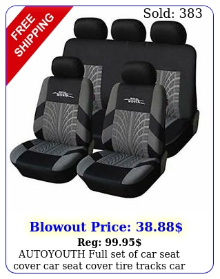 autoyouth full set of car seat cover car seat cover tire tracks car sea
