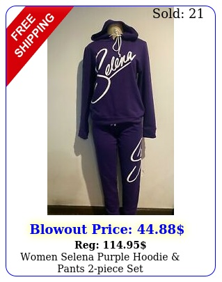 women selena purple hoodie pants piece se