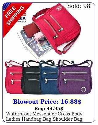 waterproof messenger cross body ladies handbag bag shoulder bag womens purse u