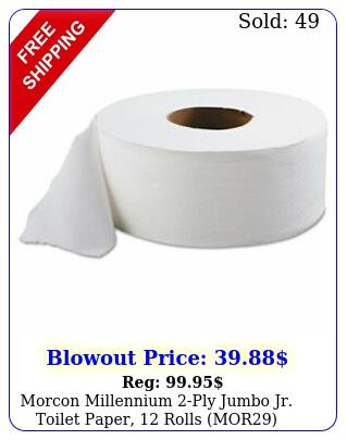 morcon millennium ply jumbo jr toilet paper rolls mo