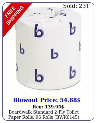 boardwalk standard ply toilet paper rolls rolls bw
