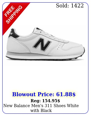 balance men's shoes white with blac