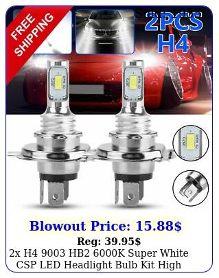x h hb k super white csp led headlight bulb kit high low beam canbu