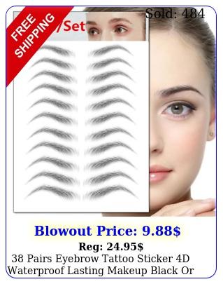 pairs eyebrow tattoo sticker d waterproof lasting makeup black or brown u