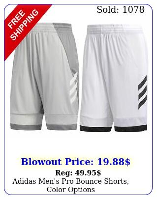 adidas men's pro bounce shorts color option