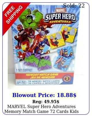 marvel super hero adventures memory match game cards kids educationa