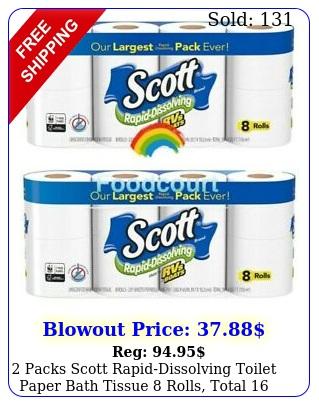 packs scott rapiddissolving toilet paper bath tissue rolls total roll