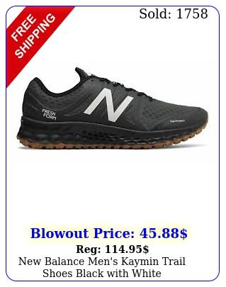 balance men's kaymin trail shoes black with whit