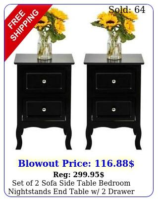 set of sofa side table bedroom nightstands end table w drawer display shel
