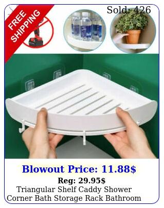 triangular shelf caddy shower corner bath storage rack bathroom organizer holde