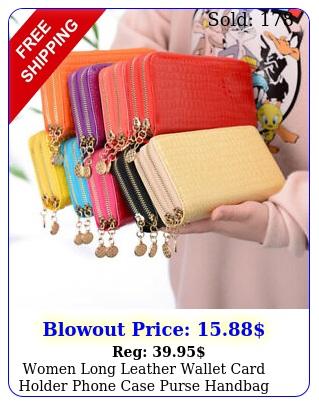 women long leather wallet card holder phone case purse handbag clutch wristle